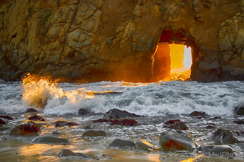 Light through the Arch with Splash