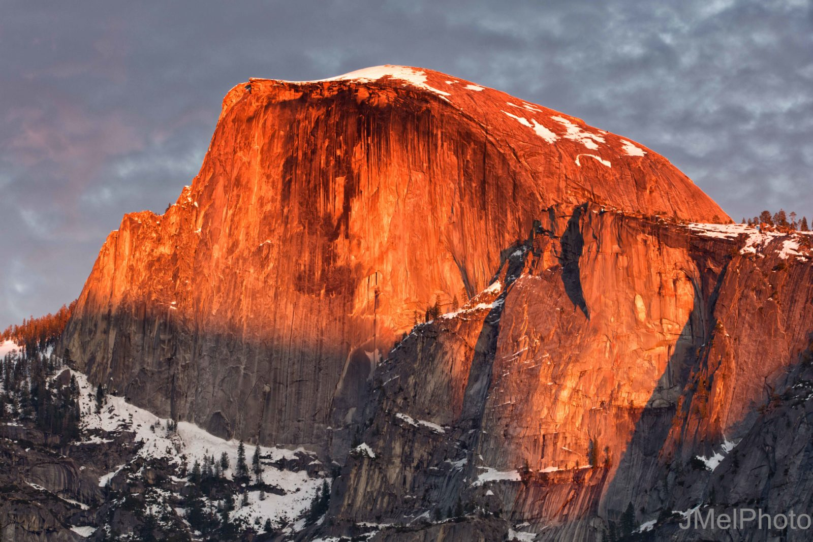 Half Dome Winter Sunset