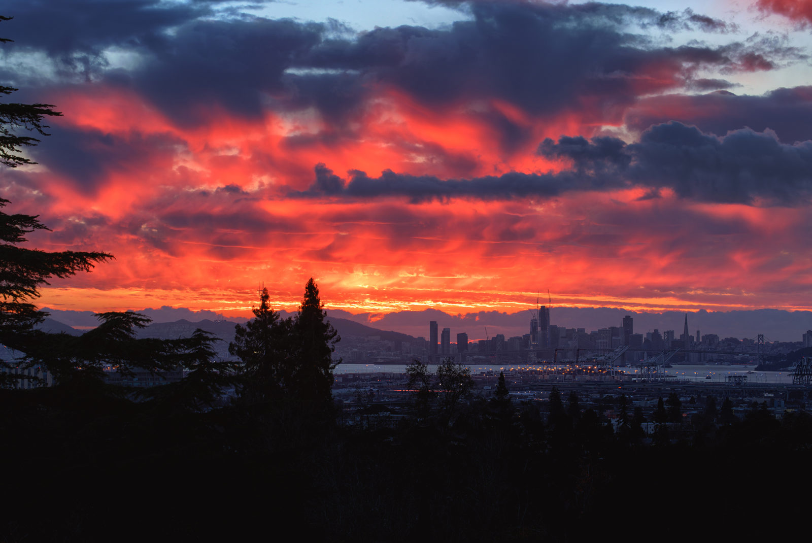 Fiery Skies Over San Francisco