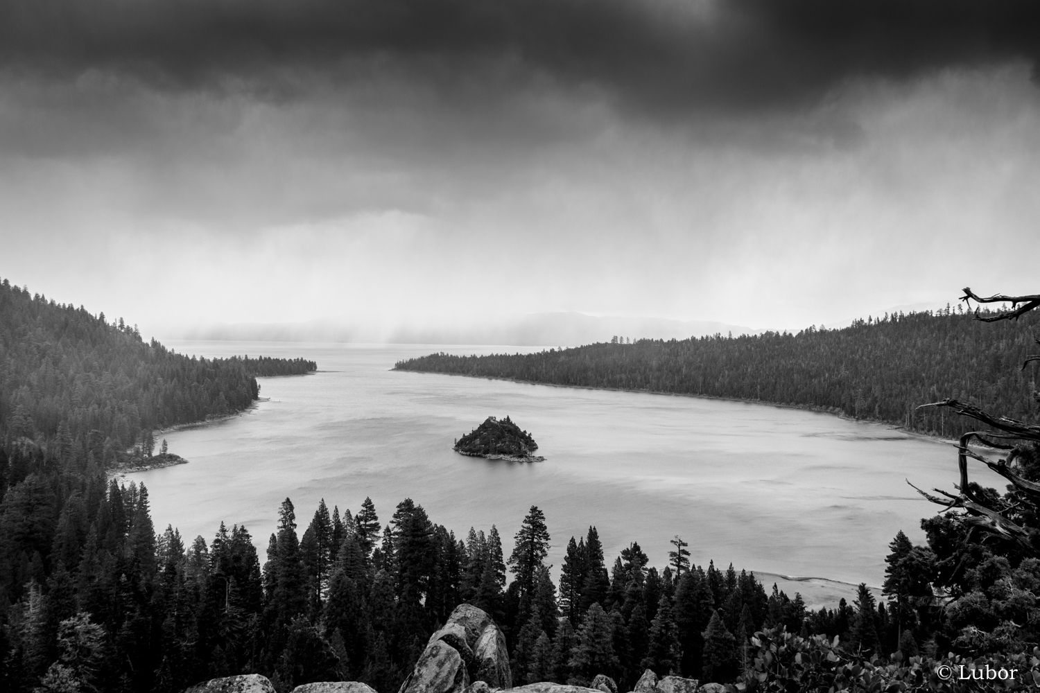 Storm over Lake Tahoe