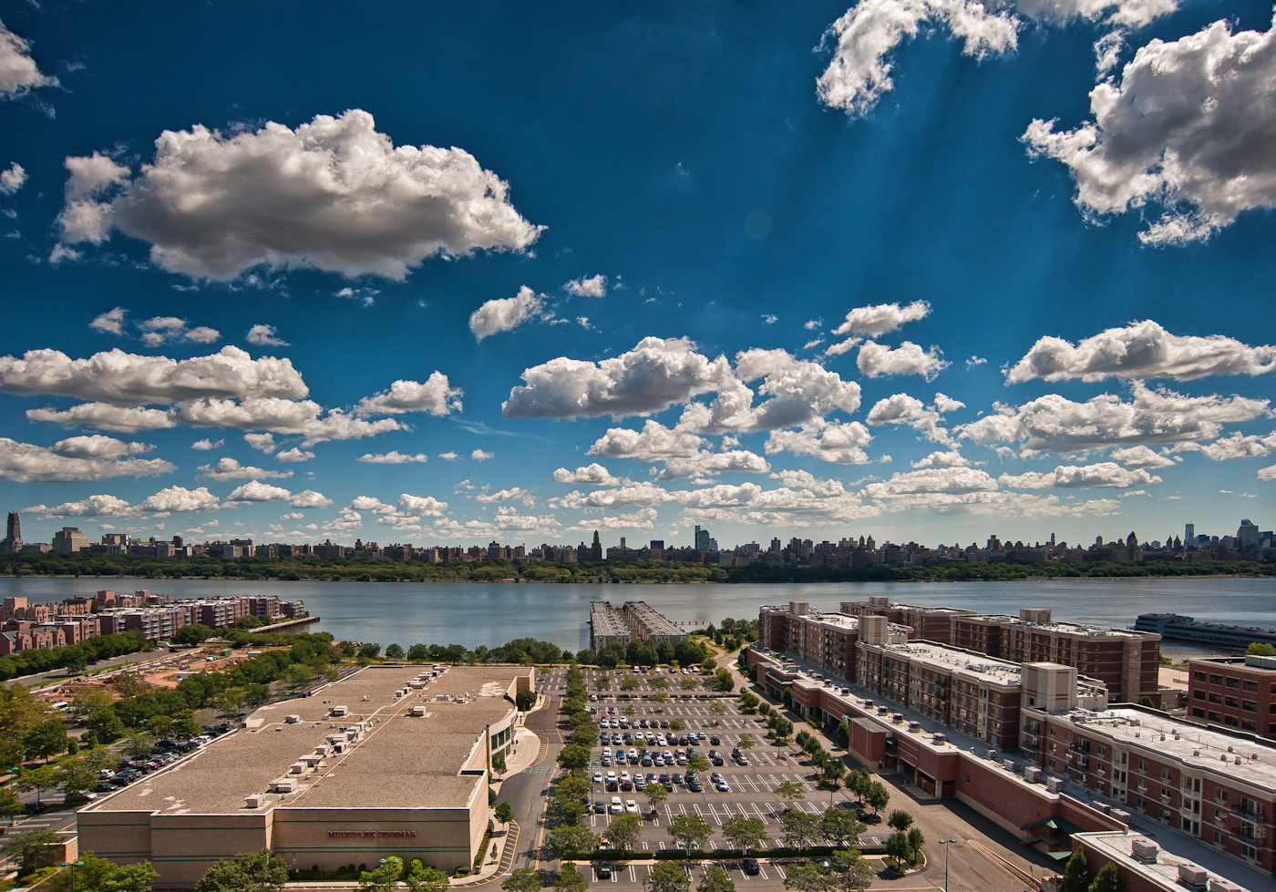 Summer clouds over the Hudson