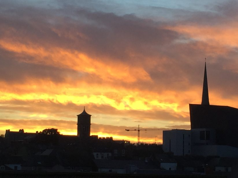 Wexford sky on fire