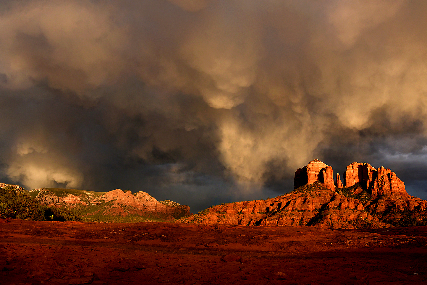 Brewing Over Cathedral Rock