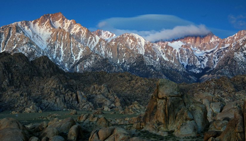 Cloud covered Mt. Whitney