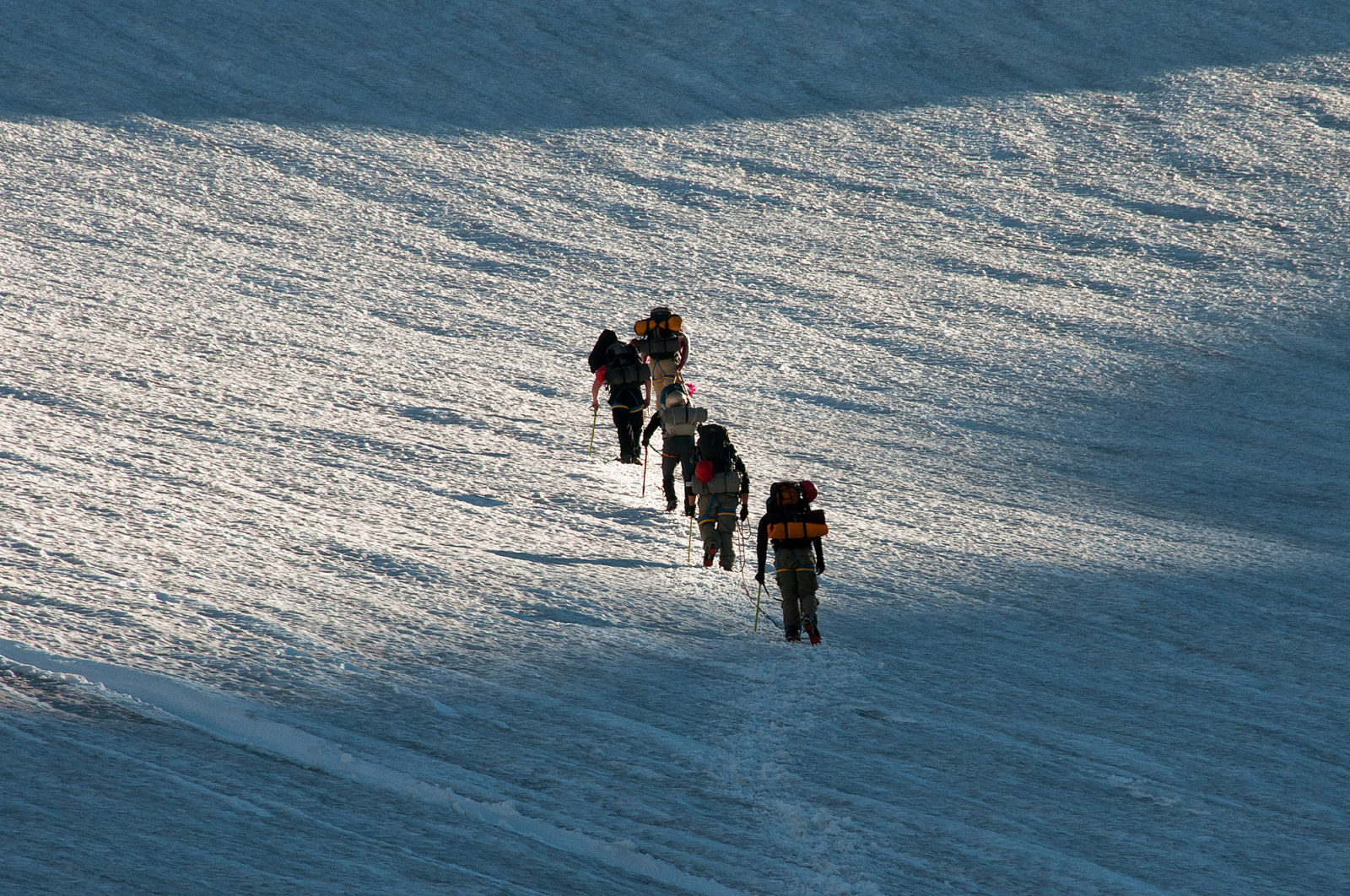 Climbers on the Inter Glacier