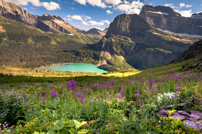 Along Grinnell Glacier Trail