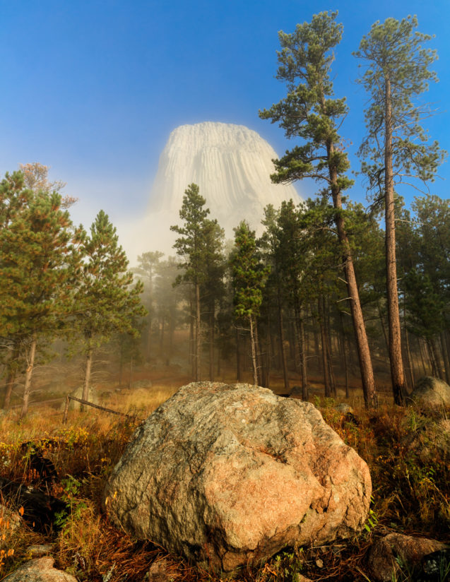 Devil's Tower in Fog