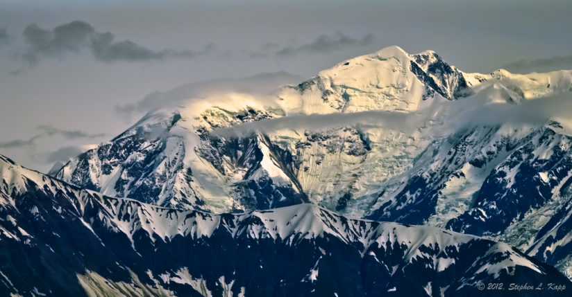 Alaska Mountain in Fading Light