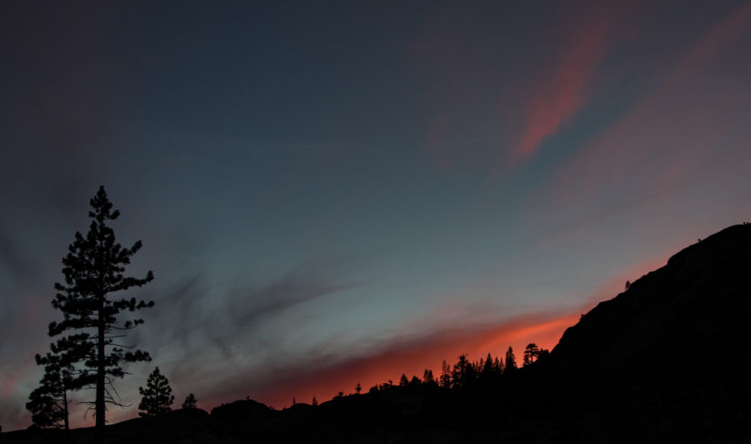 Sunset on  Donner Summit