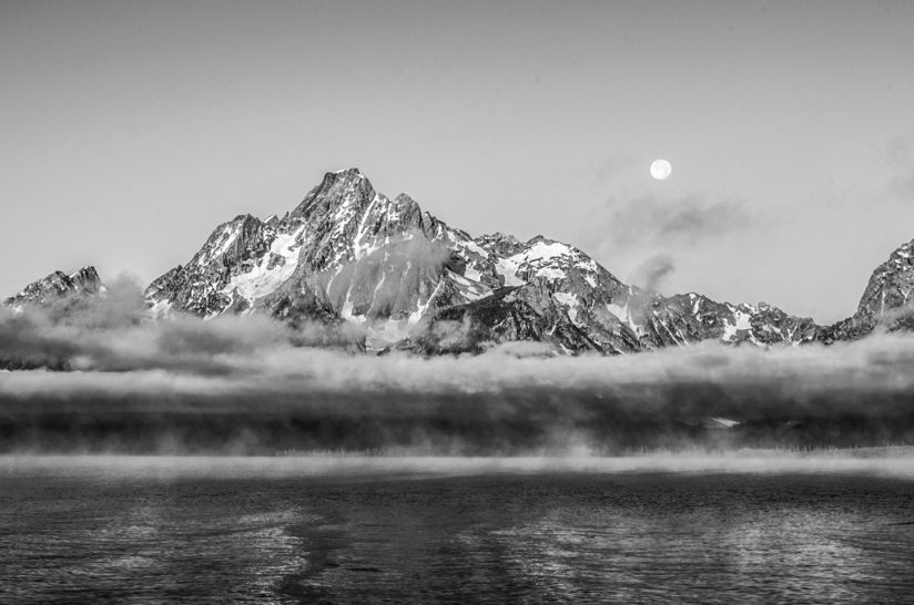 Grand Teton Moonset