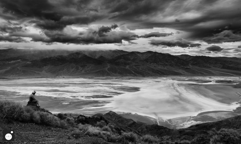 Storm clouds over Badwater Basin
