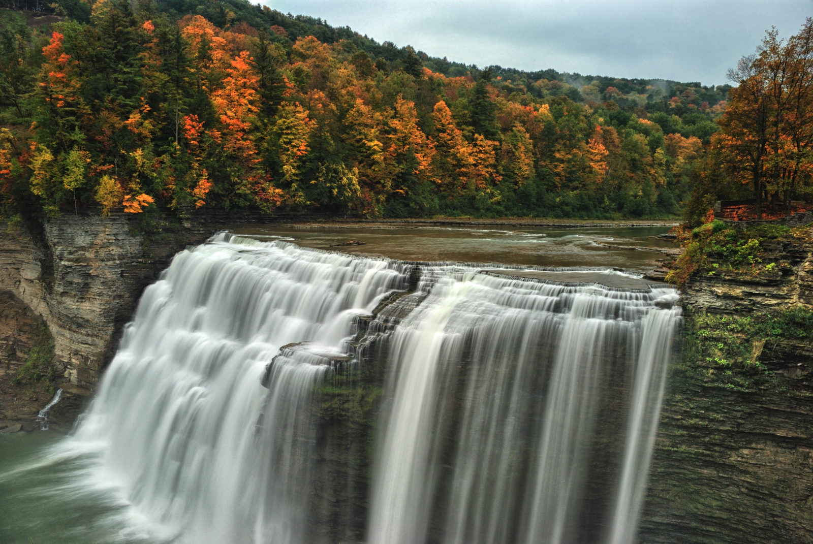 Middle Falls: Letchworth State Park