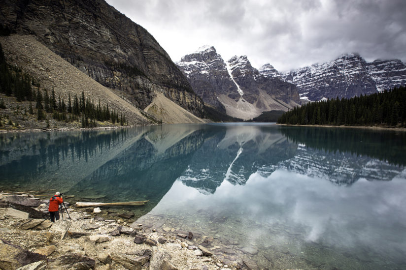 Photographer, Moraine Lake