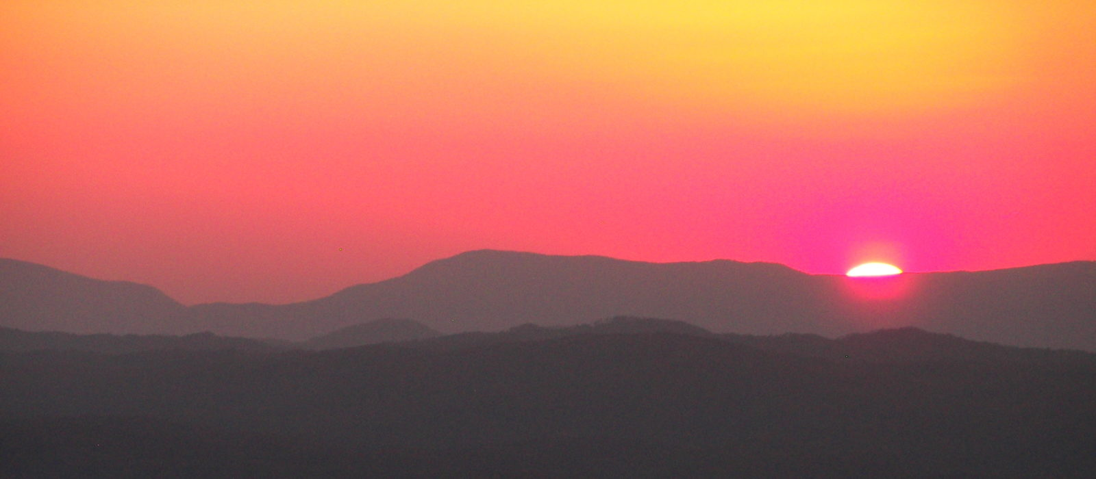 Sunset over Cherokee National Forest