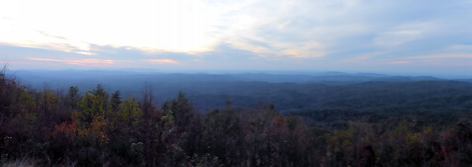 Panoramic view of Cherokee national Forest