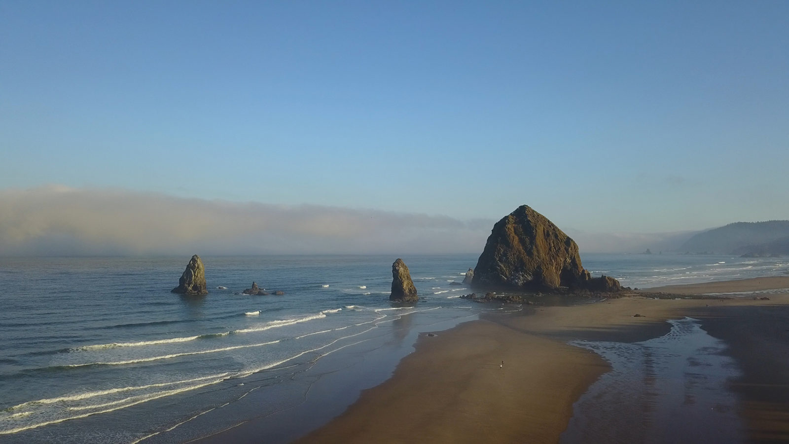 Haystack Rock from Above