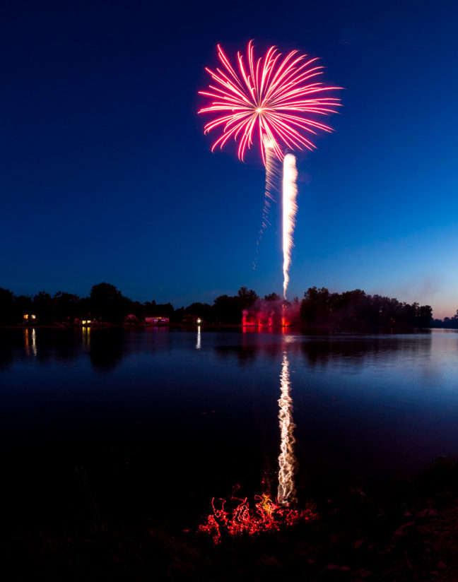 Fireworks in Beaverton, Michigan