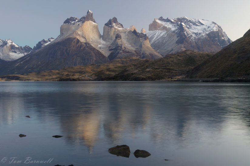 Sunrise over Lago Pehoe – Cuernos del Paine