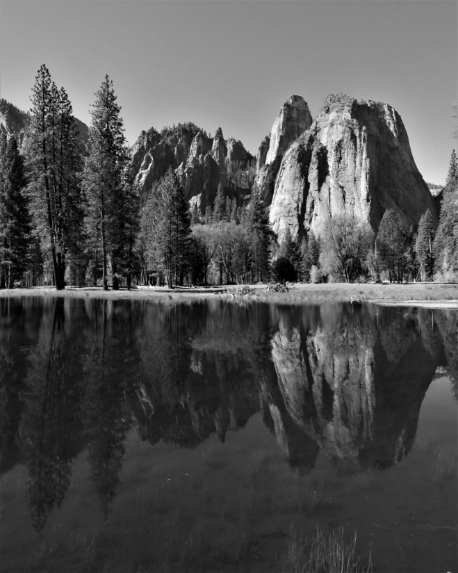 Cathedral Rocks in Black and White