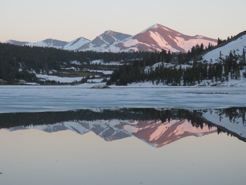 Tioga Lake Sunset Alpenglow