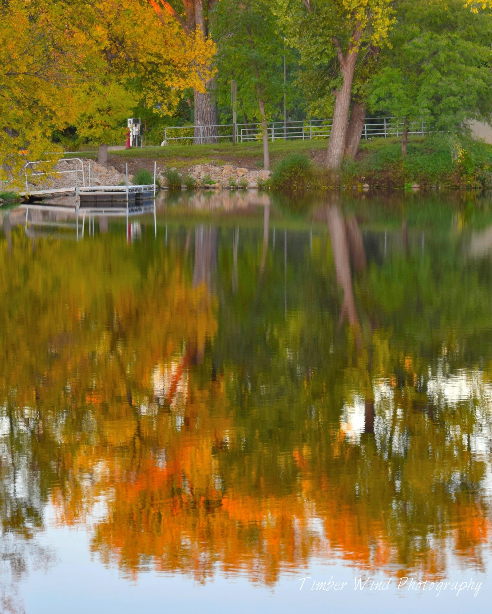 Reflections of a Fall Sunset