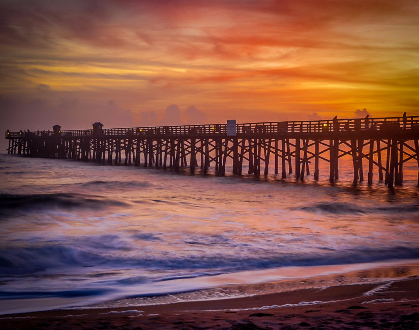 Flagler Pier At Sunset