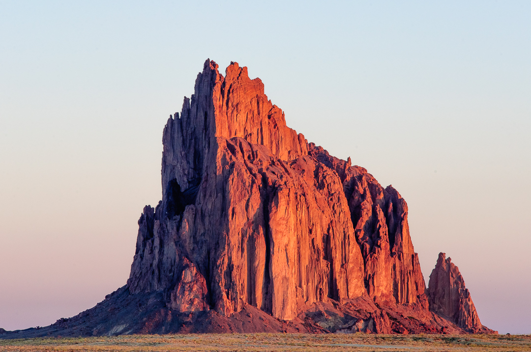 Shiprock, NM sunrise, East Face