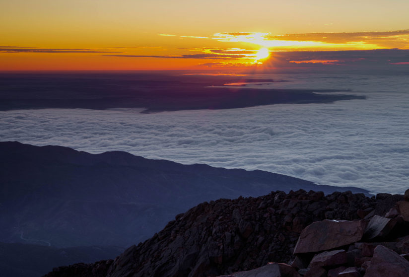 Sunrise from the Top of Pikes Peak