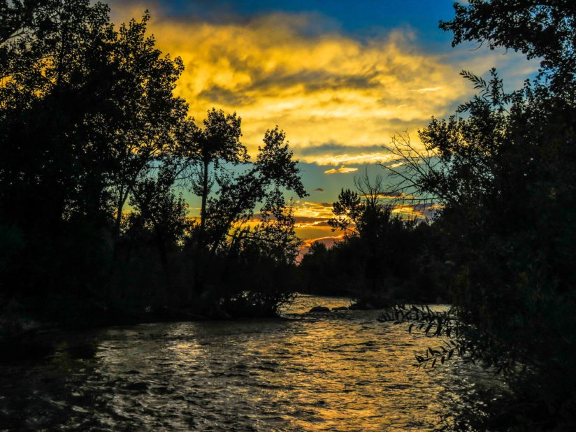 Boise River sunset