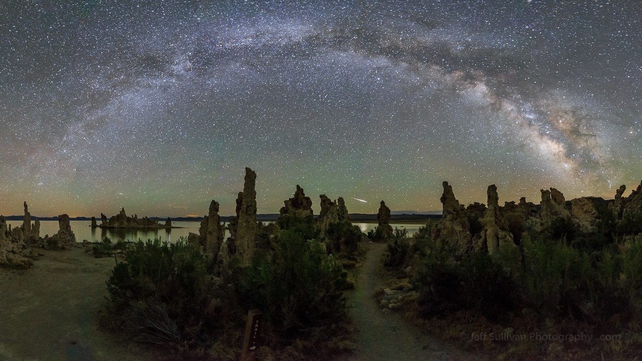 Eta Aquarid Meteor Over Mono Lake Tufa