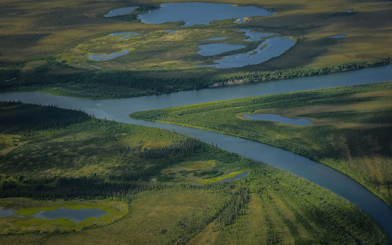 Coastal river system in the fragile Arctic