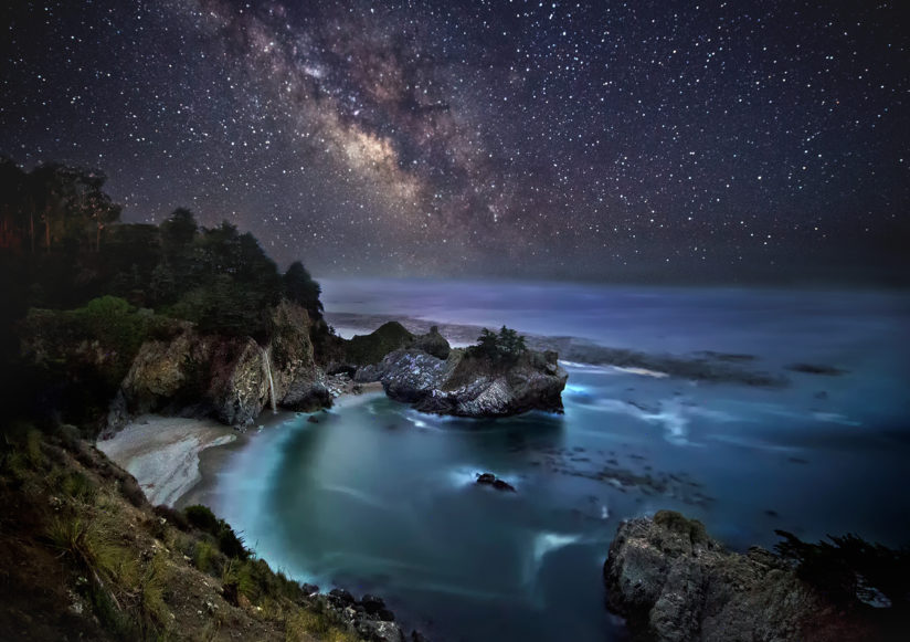 Milky way to McWay falls