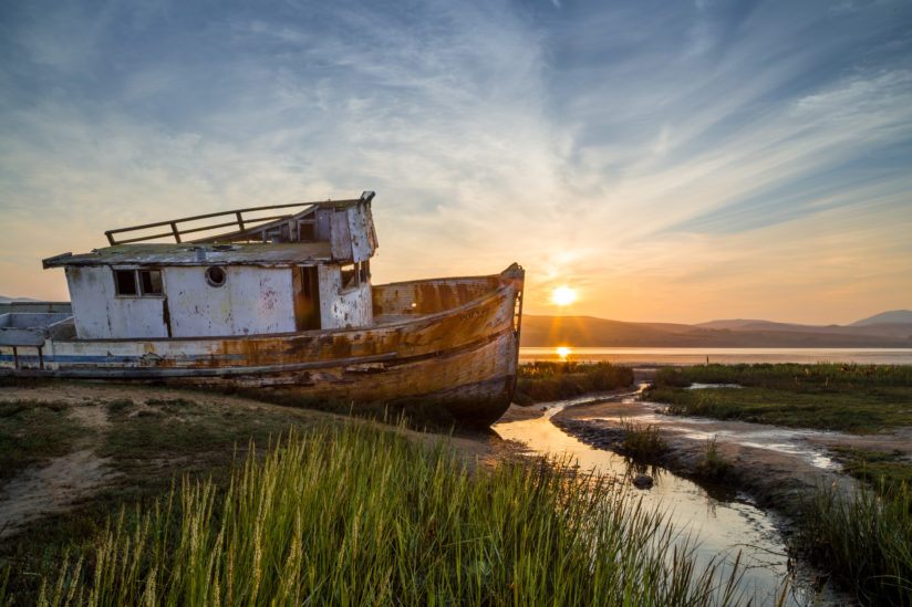 Point Reyes Shipwreck at Sunrise