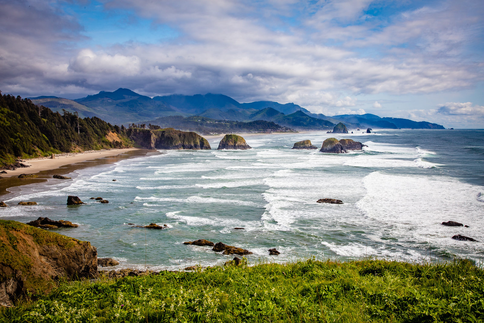 Cannon Beach from Ecola State Park, Northern Oregon Coast
