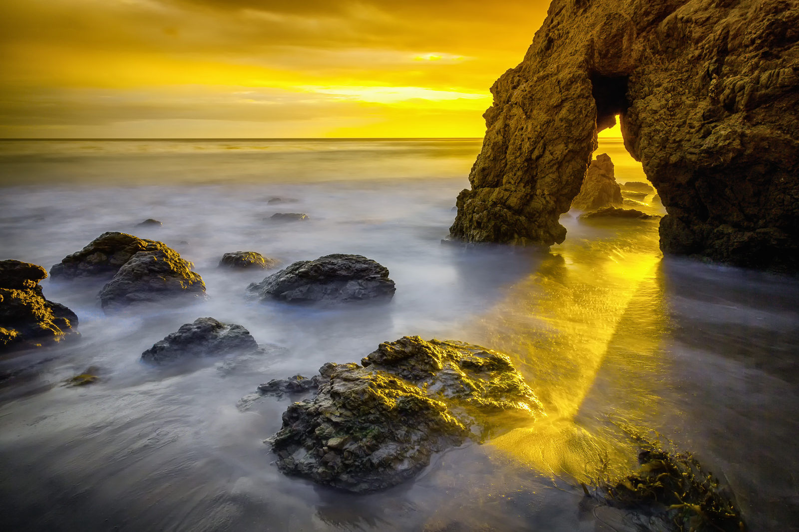 Golden Arch Sunset