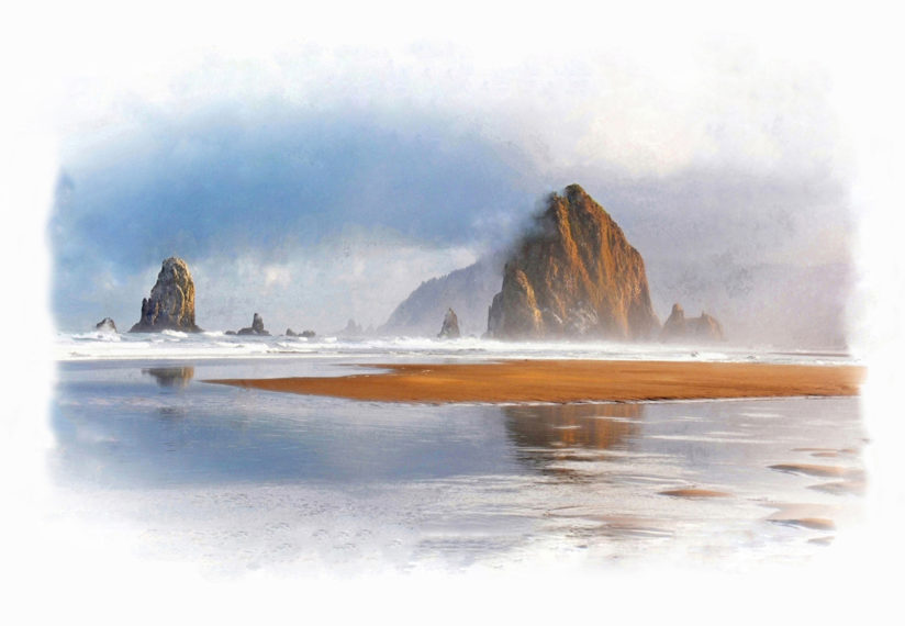 Cannon Beach, Oregon Coast Landmark, Haystack Rock