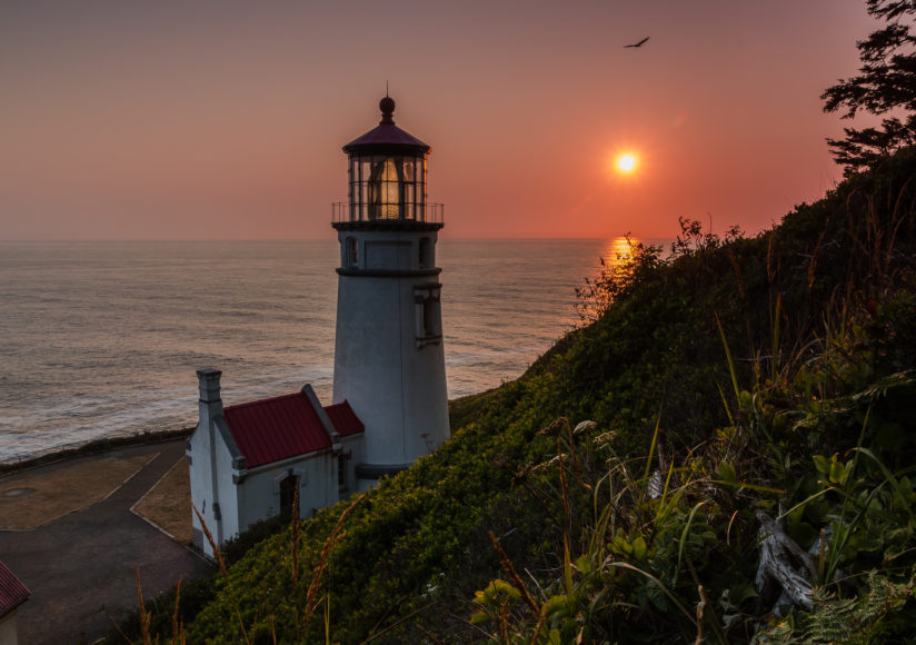 Quiet Lighthouse Sunset