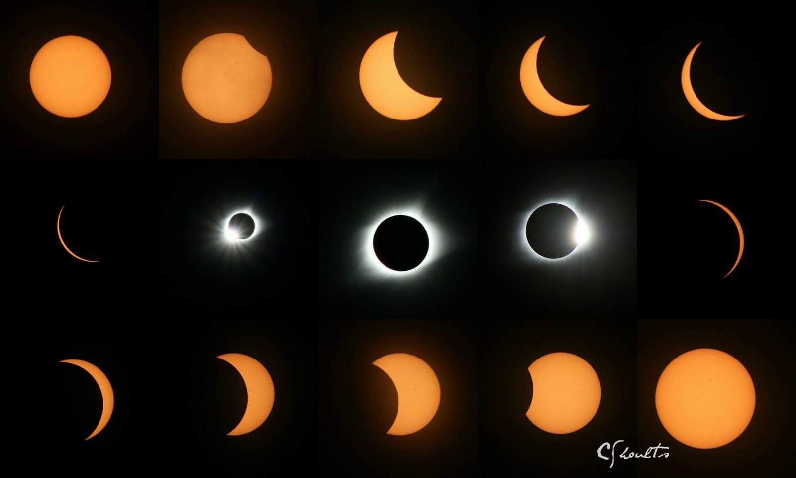 Solar eclipse collage