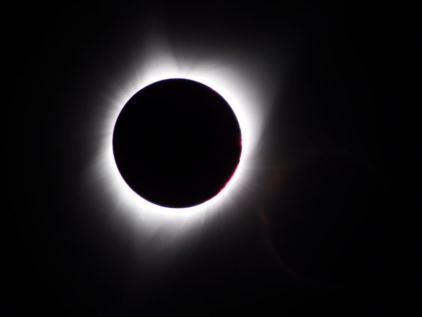 2017 Solar eclipse at totality