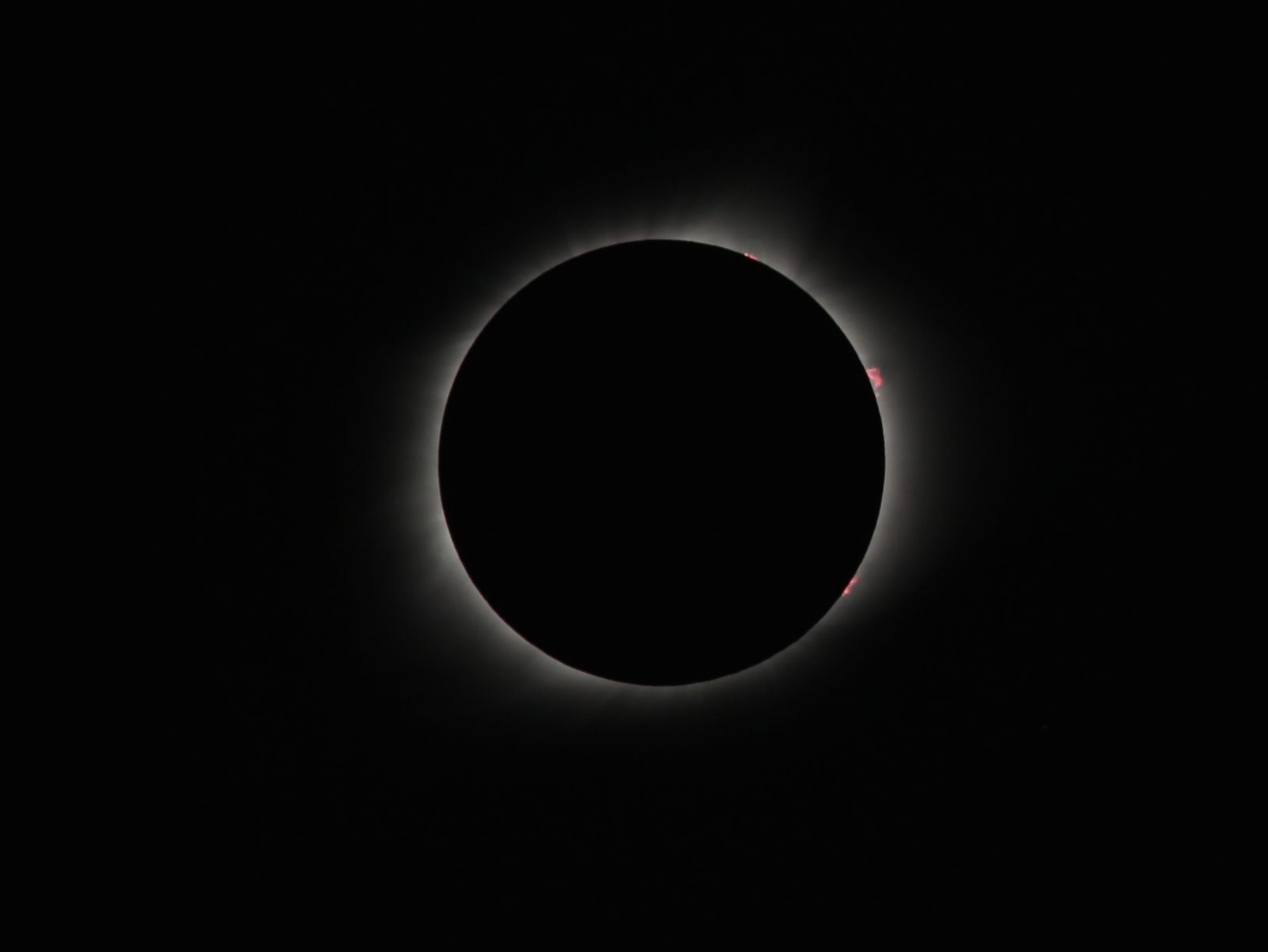 Solar flare during totality