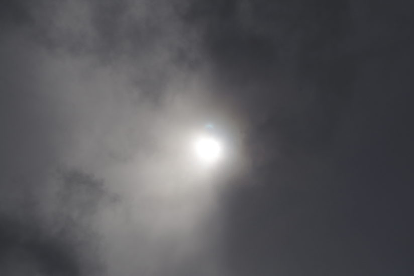 Glimpse of Mercury during the Eclipse