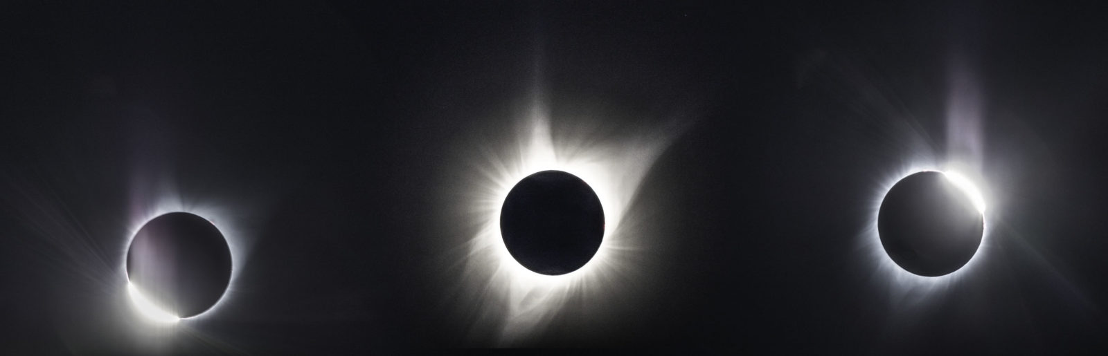 Stages of Totality, Total Solar Eclipse, August 2017