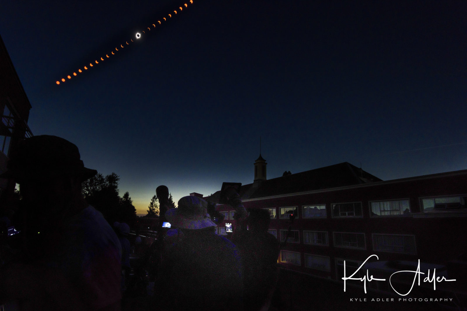 Landscape Timelapse of Eclipse