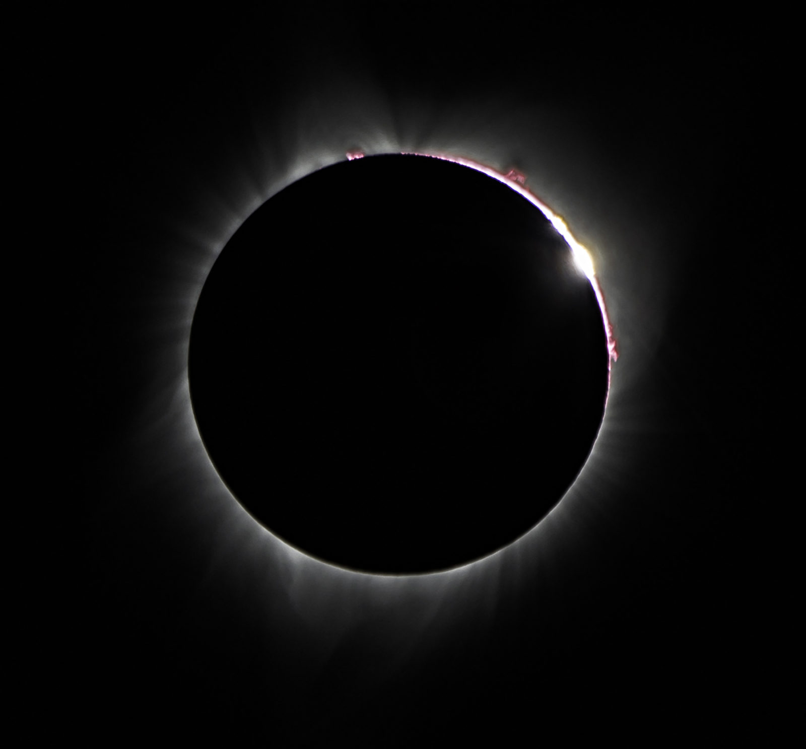 Solar Flares and Diamond Ring