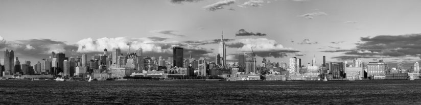 NYC Skyline Black and White..