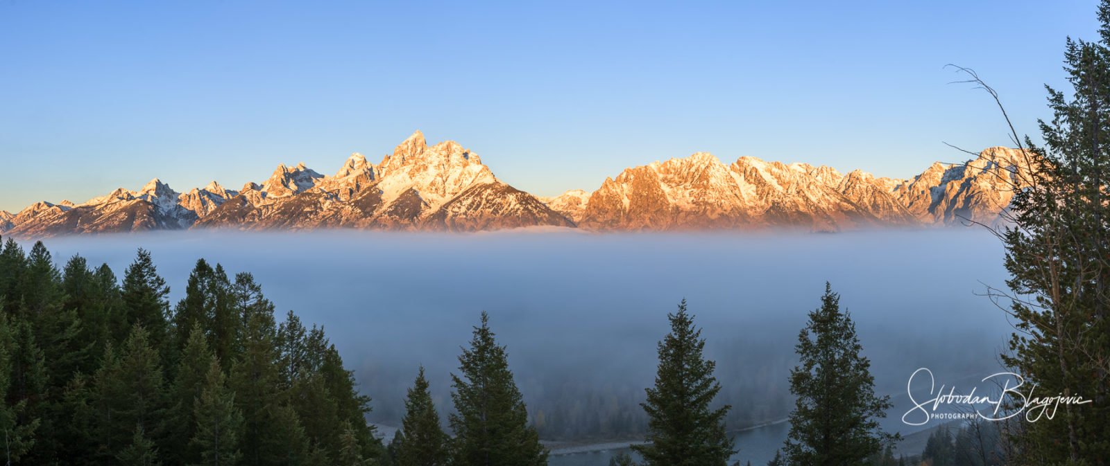 Foggy Teton Morning