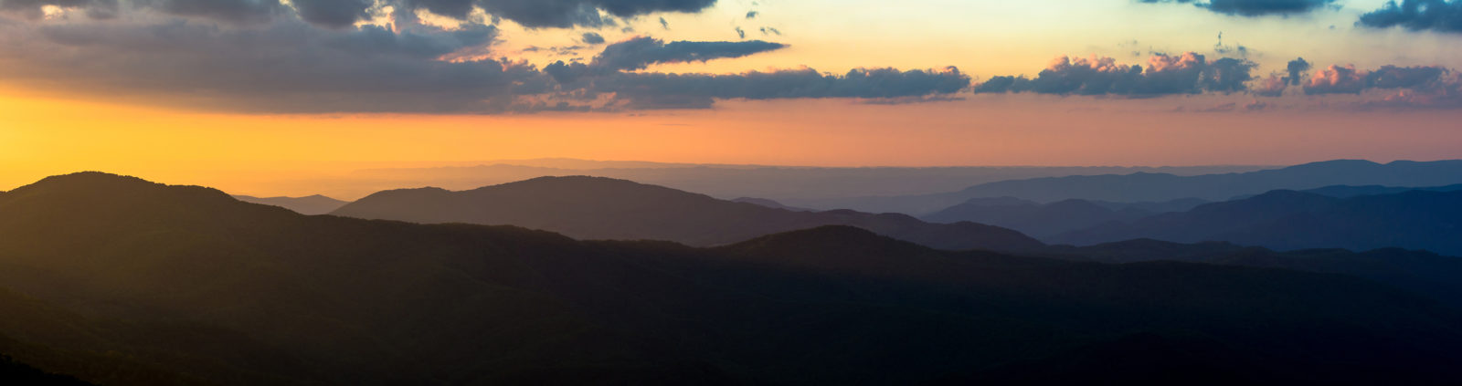 Sunset in the Roan Highlands-Panorama