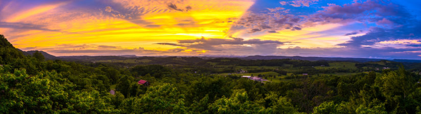 Sunset from Clinch Mountain Panorama
