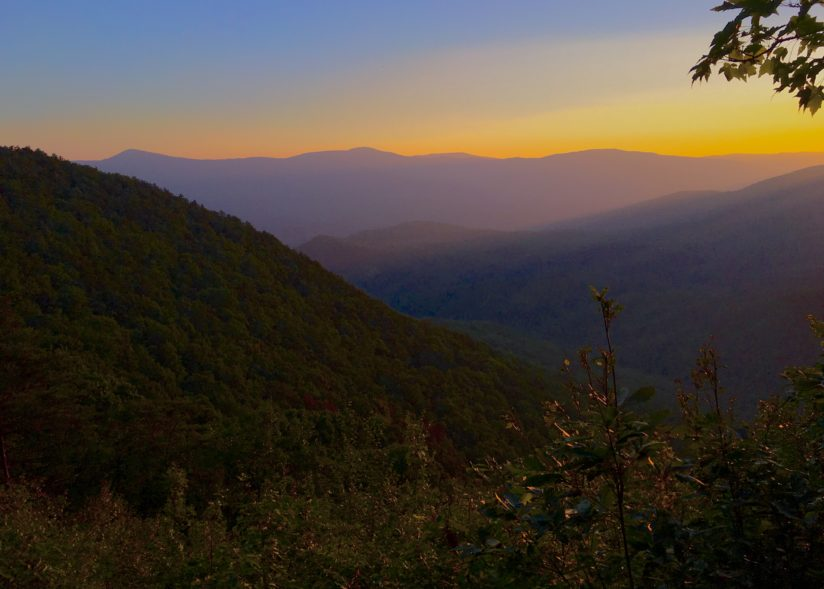 Sunrise at the West Rim of Fort Mountain State Park, Georgia