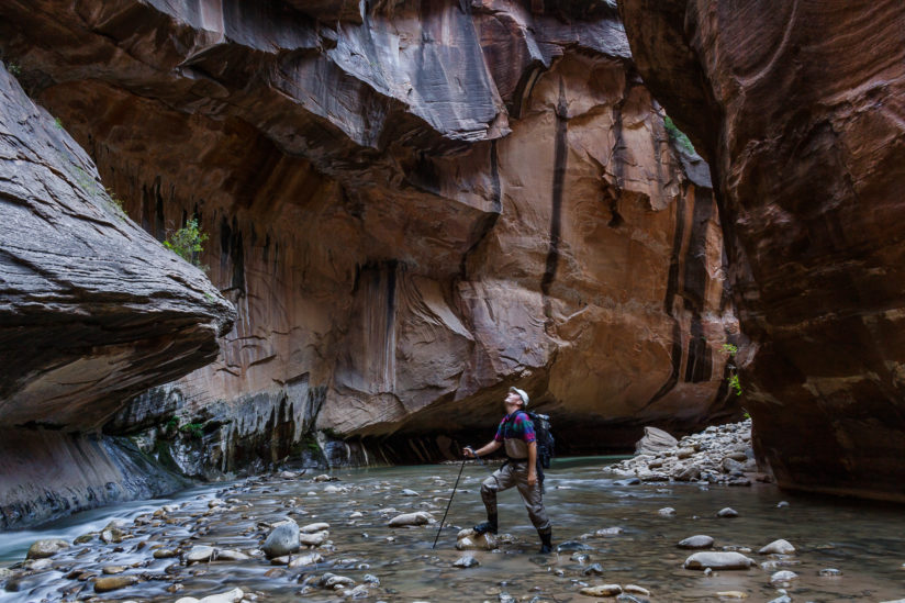 Exploring the Virgin River Narrows